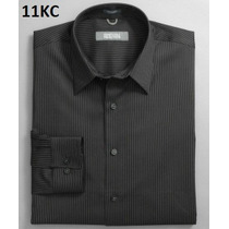 S, M - Camisa Negra Kenneth Cole Ropa Hombre 100% Original