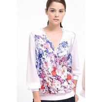 Suku 71043 Bonita Blusa Cuello V Cruzado Moda Asia $649