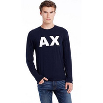 Playera Armani Exchange Manga Larga Talla M Logo A|x 2015