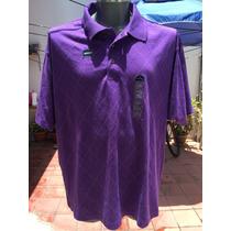 Playera Tipo Polo St Johns Bay Tallas Extra 2xl 50/52 Violet