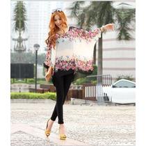 Hermosa Blusa Floreada Moda Japonesa Promocion