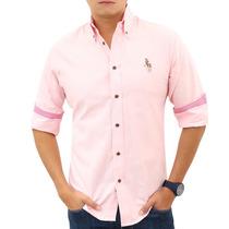 Camisa Polo Houston Ropa 3015m Rosa