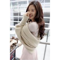 Suku Ee9059 Sweater Tipo Chal Con Manga Larga Moda Asia $449