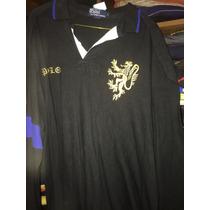 Camiseta Ralph Lauren Tipo Polo Manga Larga Talla L Negra