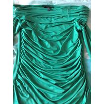 Blusa Blusón Baby Phat Licra Verde Esmeralda Hombros