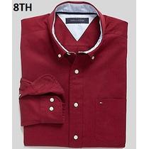 S - Camisa Tommy Hilfiger Vino Ropa De Hombre 100% Original