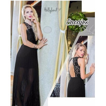 Maxi Vestido Formal Con Encaje Holly Land