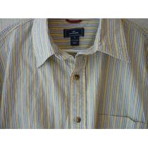 Camisa Dockers Casual Manga Corta Amarilla Talla L Nueva