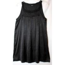 Oferta Blusa O Bluson Negro Satinado Mediano - Grande