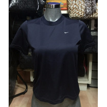 Blusa Americana Deportiva Nike Ajustable En Azul T.ch