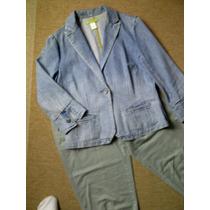P Saquito De Jeans Deslavado Talla 32 Remate Limpia Closet
