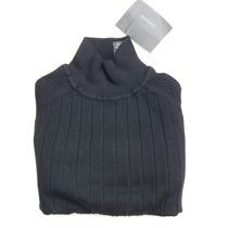 C L A I B O R N E - Camisa Cuello Tortuga Negro Mediana