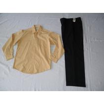 Traje Vestir Camisa Vanheusen Pantalon Nautica 18 Años