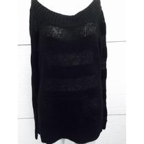 Sueter Tejido Negro Talla L Glimmer Moda 0089