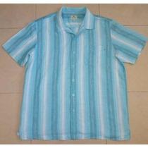 Solitude Camisa Rayada Talla Extra Grande Tela Lino/ Algodo