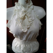 Hermosa Blusa Blanca Sexi Escote