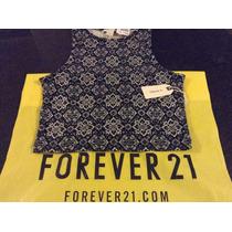 Forever 21 Blusa Para Dama Talla S Top Sin Mangas C Redondo