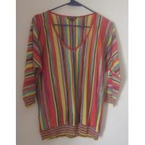 Elena Miró Diseñador* Blusa Multicolor Dama(xl)hecho Italia