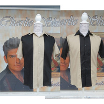 Camisa Caballero Boliche Bowling Vintage Charlie Sheen Harpe