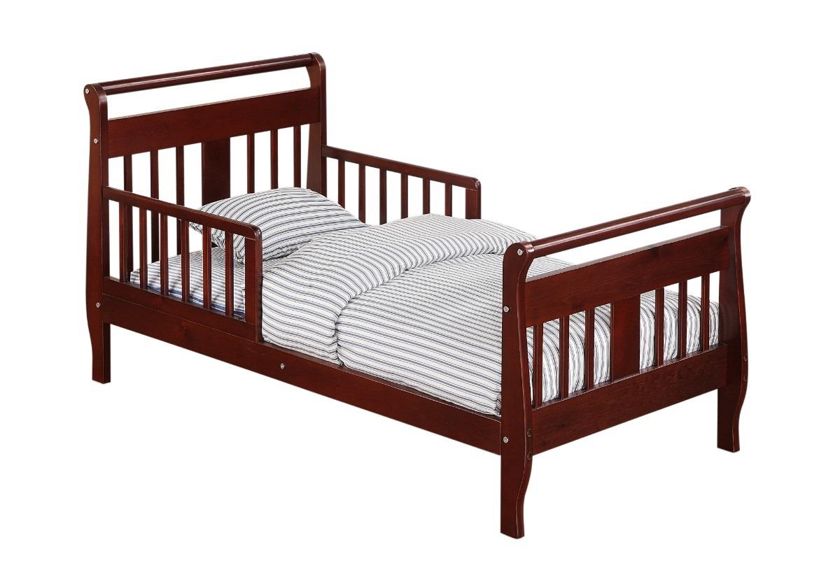 Camita cama infantil de madera cereza nogal chocolate for Precios de camas infantiles