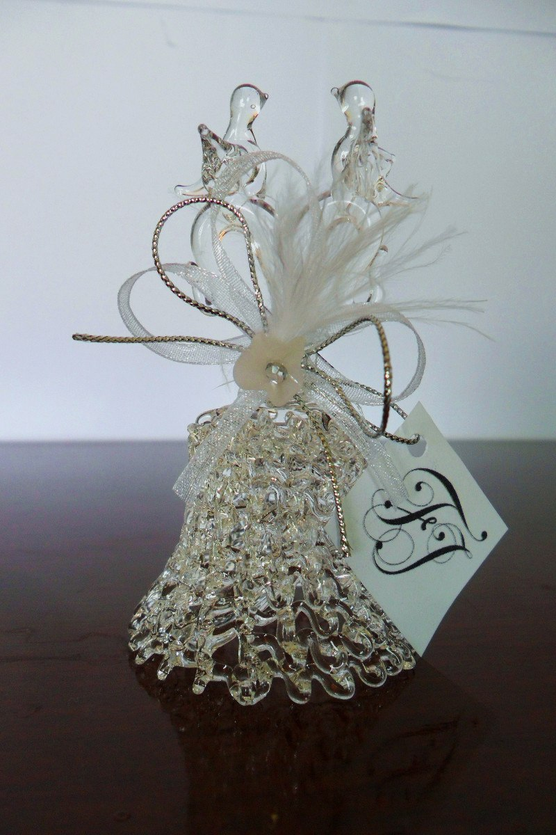 campanas de cristal elegantes recuerdos para boda 17