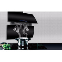 Campana Pared Cocina Extractor Moderna Vidrio Control Remoto