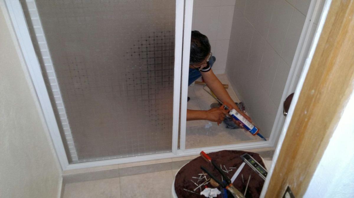 Puertas Para Baño De Acrilico:Cancel De Baño De Aluminio Con Acrilico – $ 79900 en MercadoLibre