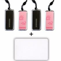 Paq. 4 Keytags Y 1 Tarjeta Samsung Para Cerradura Digital