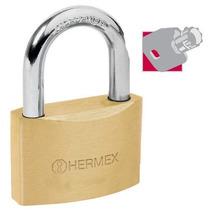 Candado De Alta Seguridad Llave Tubular 60 Mm Hermex 43305