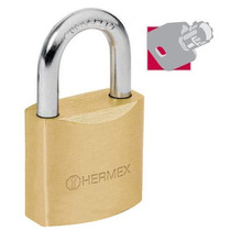 Candado De Alta Seguridad Llave Tubular 40 Mm Hermex 43303