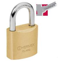 Candado De Alta Seguridad Llave De Puntos 40 Mm Hermex 43300