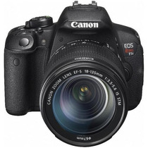 Canon Rebel Eos T5i 700d Lente 18-135mm Lcd Touch Full Hd