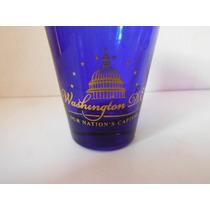 Vaso Shot Tequilero Washington D.c Vidrio Azul Bar Cantina