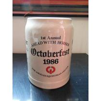 Tarro Cerveza October Fest 1986 Eggenberger Beer Alemania O.