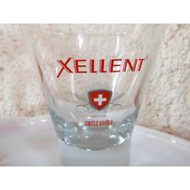 Vaso Vodka Xellent Suiza Europa Bar Cantina Souvenir Vidrio