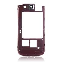 Marco Soporte Plástico Trasero Cámara Rojo Galaxy S3 I9300