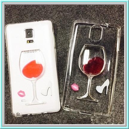 Carcasa funda transparente copa vino tinto galaxy s6 edge for Copa vino tinto