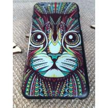 Funda Carcasa Rigida Protección Iphone 6 Dibujo Gato Serio