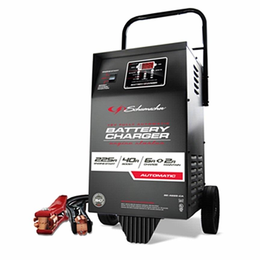 Cargador de baterias con probador y ruedas schumacher 12 v - Cargador de baterias ...