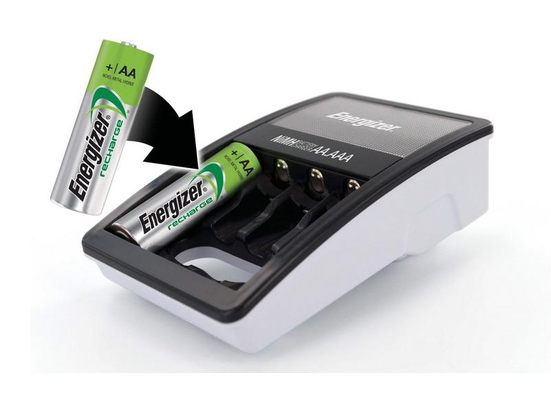 Cargador energizer 4 baterias aa recargables pilas maa for Pilas recargables aa