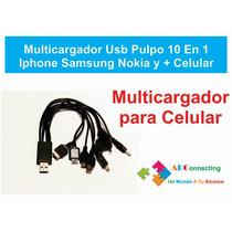 Multicargador Usb 10 En 1 Universal Para Celulares Usb