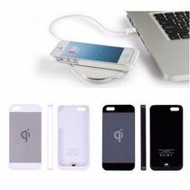 Funda Receptor Carga Inalámbrica Qi Iphone 6, 5 Y 5s
