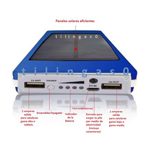 Cargador Solar Iphone Samsung Etc Bateria Power Bank 30000ma