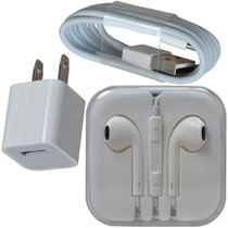 Cargador Lightning Y Audifonos Para Iphone 5-6 Original