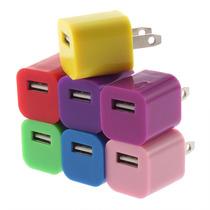 Cargador Usb Cubo Colores Pared Iphone Ipod Tablet Celular