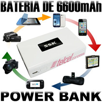 Bateria Power Bank 6600 Mah Marca Ssk 100% Originales