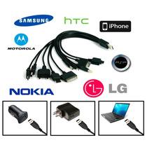 Cargador Multiple 10 X 1 Celular Nokia Samsung Psp Iphone Lg