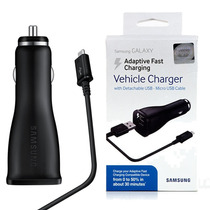 Cargador Samsung Fast Charge Para Auto Note 4 5 S6 Edge S7