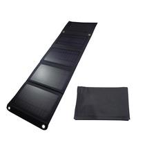 Panel Solar 14w Portátil Usb Cargador Para Celular Negro