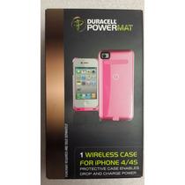 Case Wireless Cargador Duracell Para Iphone 4 Y 4s Rosa